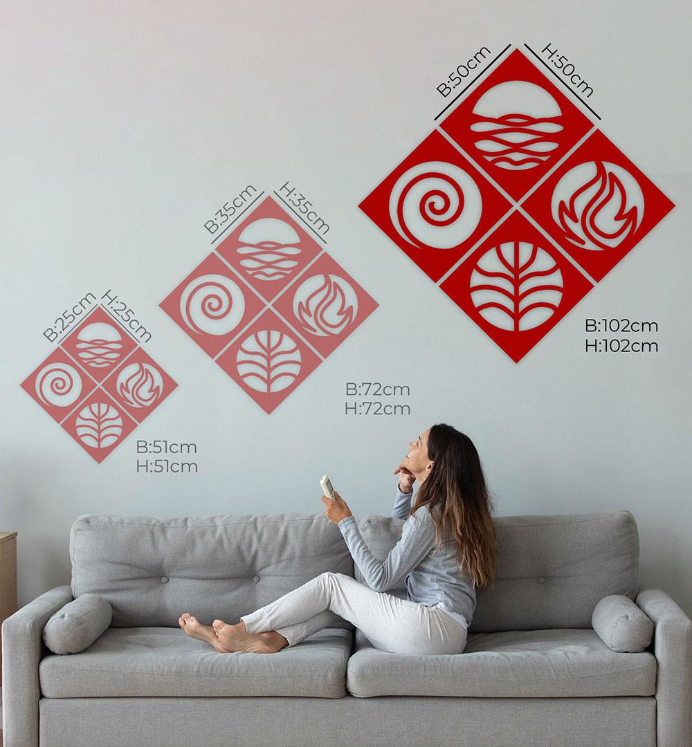 Wall Art Acryl 4 Elements