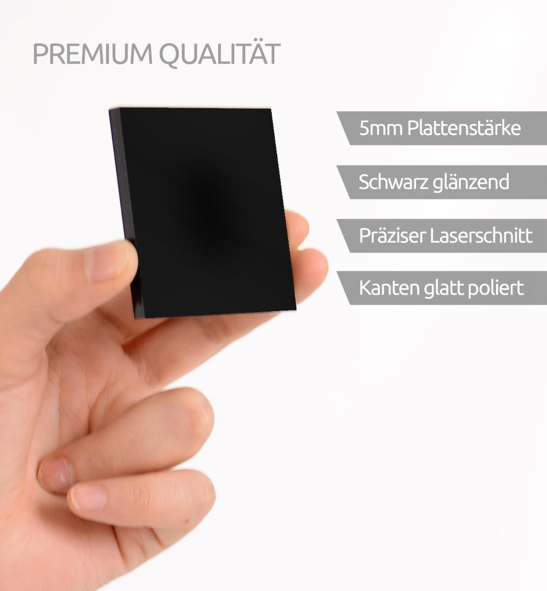 Acrylglassplatte schwarz - Vorteile