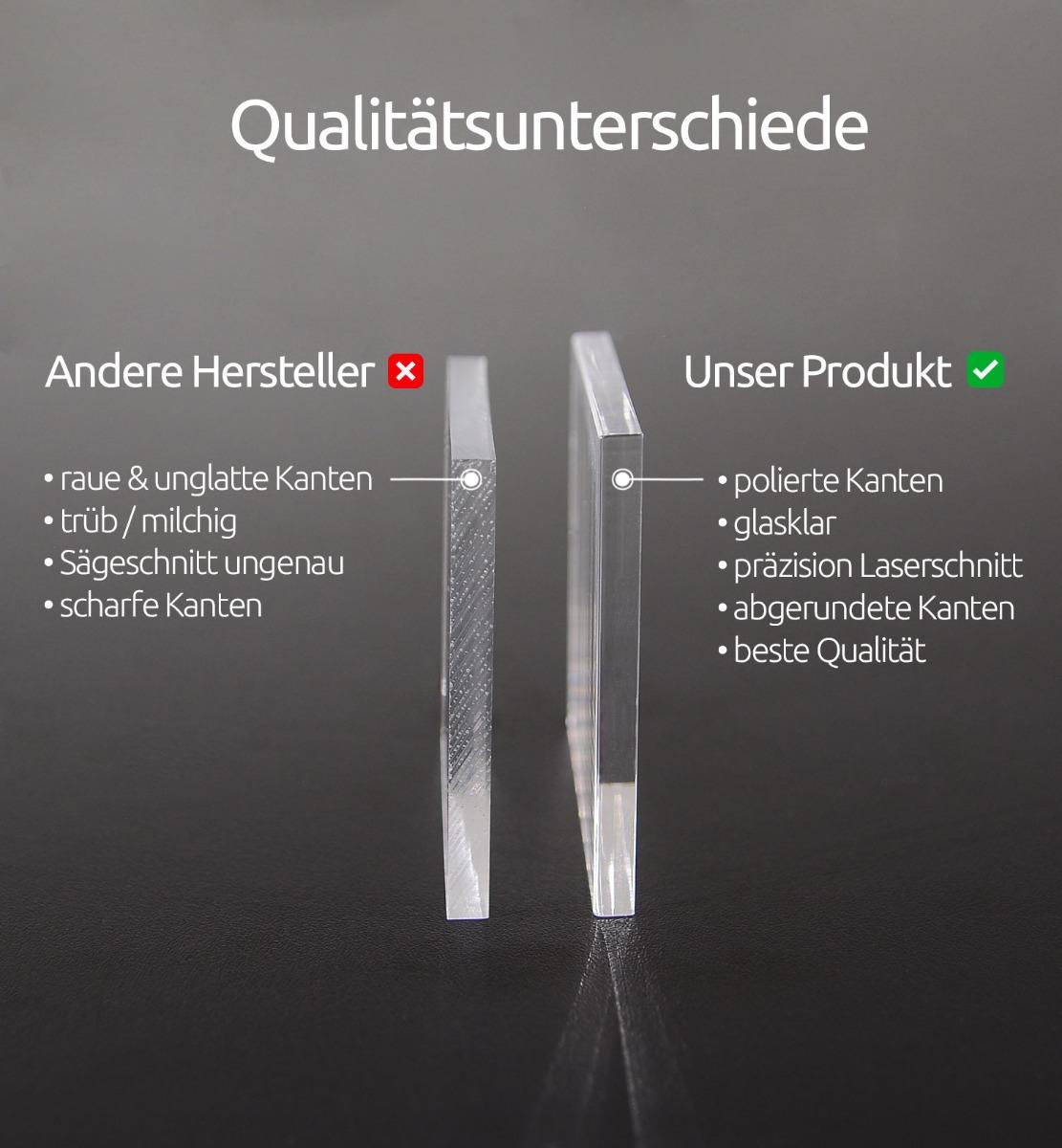 Acrylglasplatte - Qualitätsunterschiede