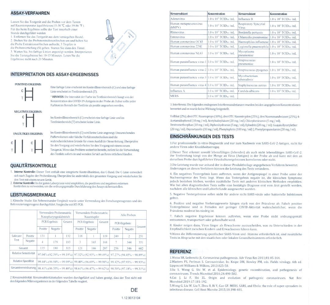 COVID-19 Antigen-Schnelltestkit, Laientest Nase (25Stk.)