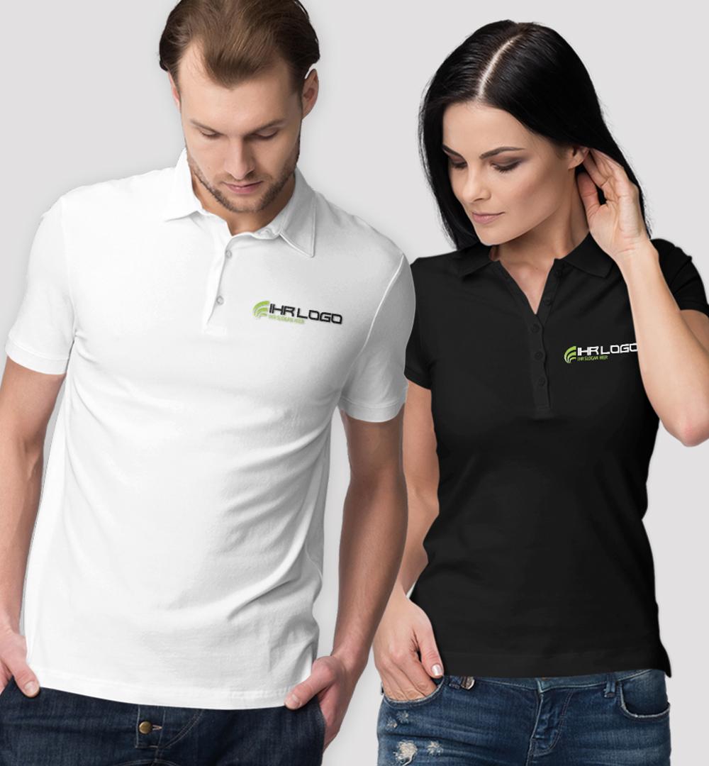 Team Polo Shirt Logo Print - Herren