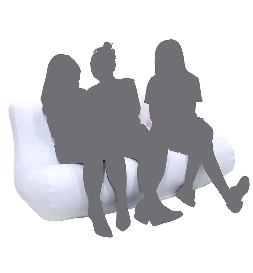 Aufblasbare Couch-Sofa bedruckt - live