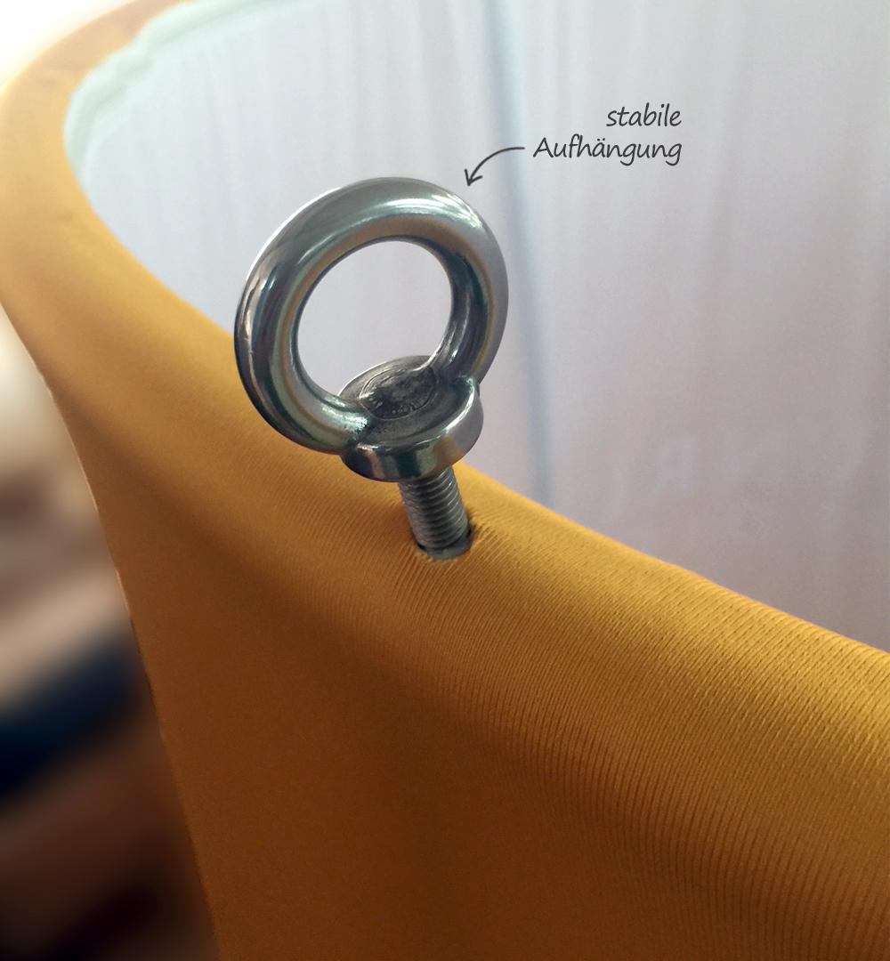 Deckenhänger Scheibe Rund:  Aufhängung