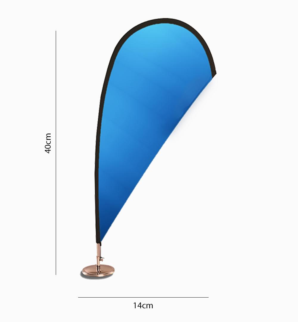 Beachflag Mini Tisch - Maße
