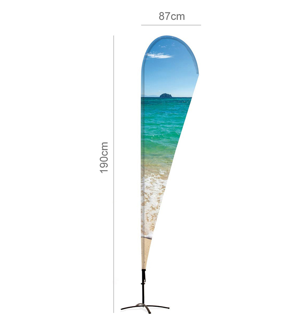 Messeset 004 - Beachflag Abmessungen