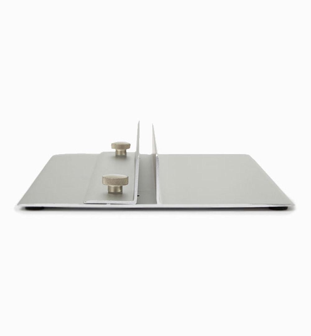 Plattenhalter Alu 40cm Seitenansicht