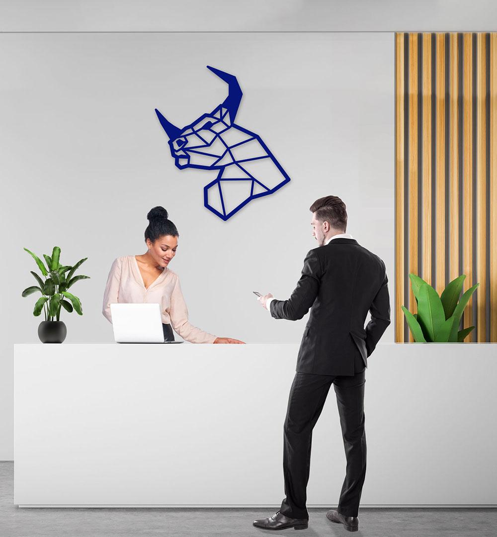 Wall Art Acryl Polygon Bull