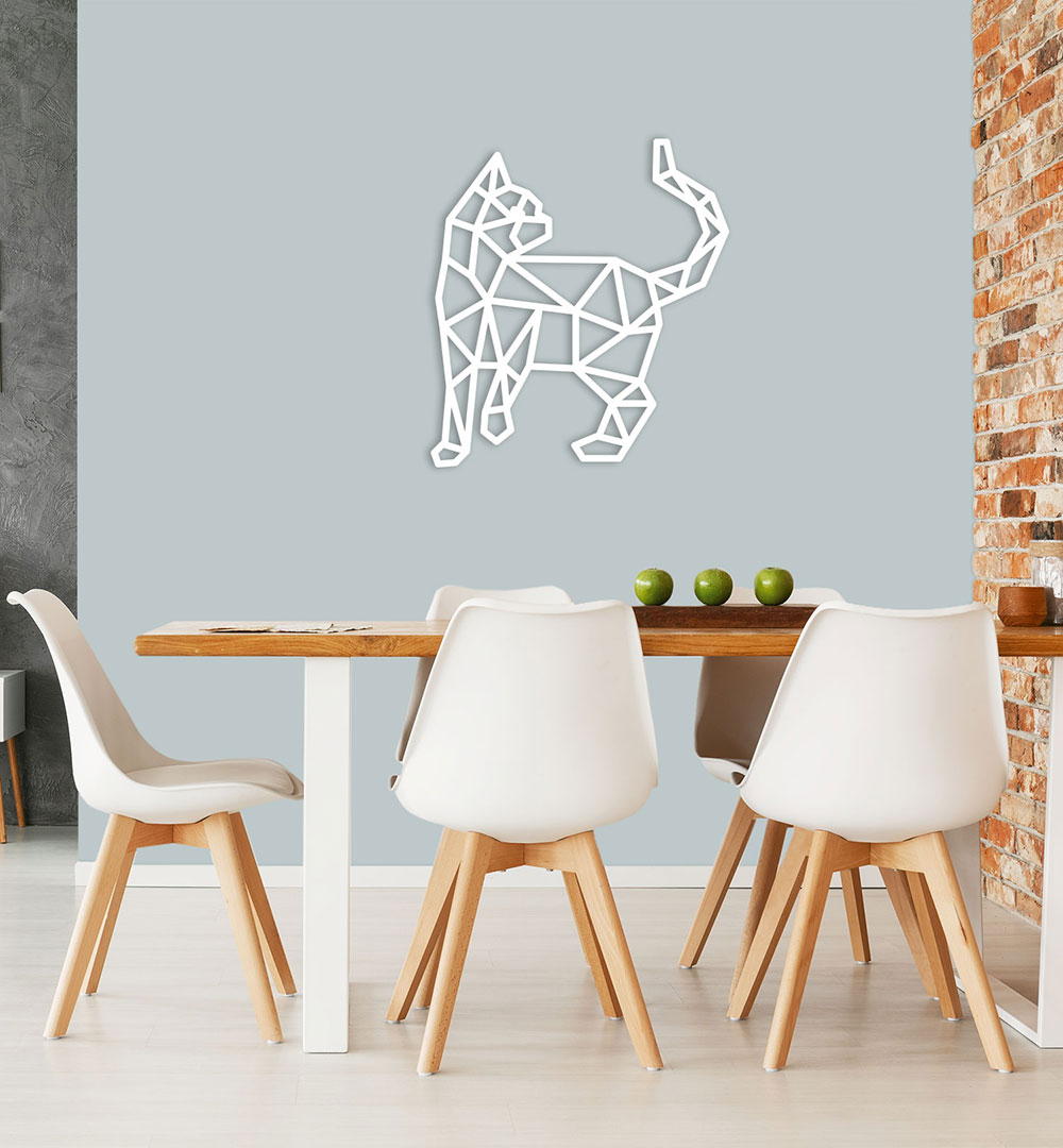 Wall Art Acryl Polygon Cats 2