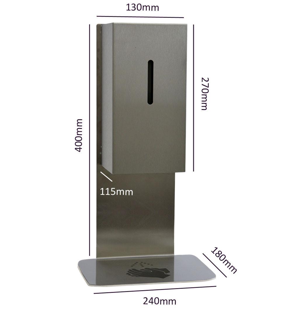 Desinfektionsständer Steel für Tisch & Tresen Maße