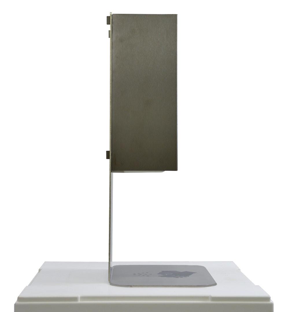 Desinfektionsständer Steel für Tisch & Tresen Seitlich