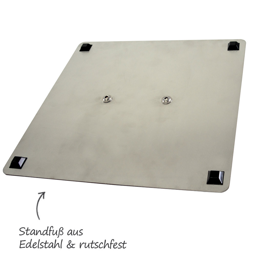 Desinfektionsständer Steel mit Sensor Fuß