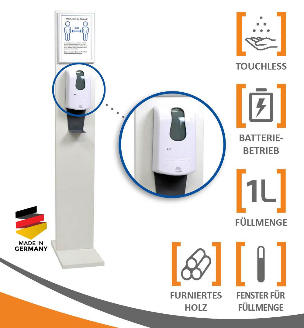 Desinfektionsständer Wood mit Sensor