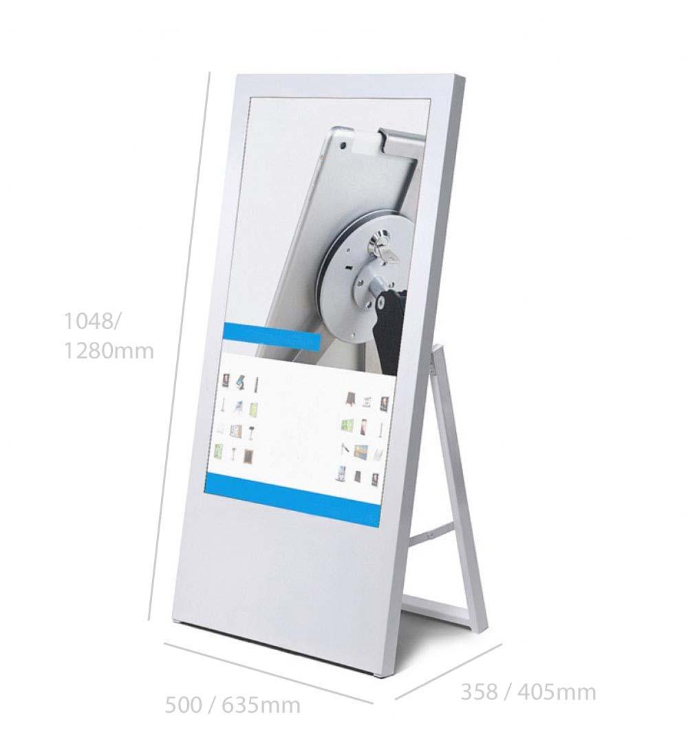 Digital Signage Kundenstopper Eco - Abmessungen
