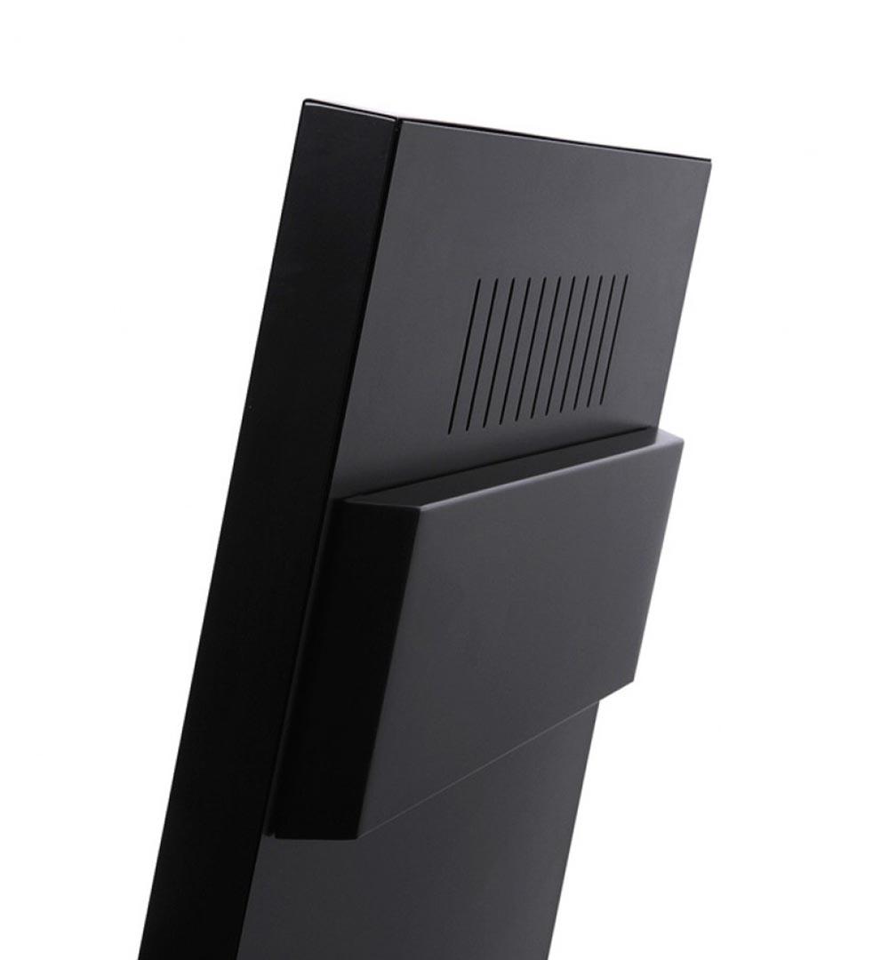 Digital Signage Kundenstopper Eco - schwarz hinten Detail