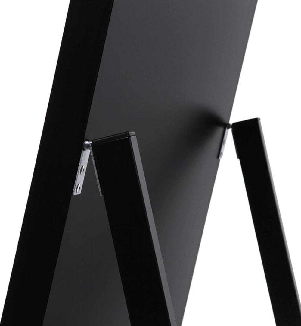 Digital Signage Kundenstopper Eco - schwarz Detail oben