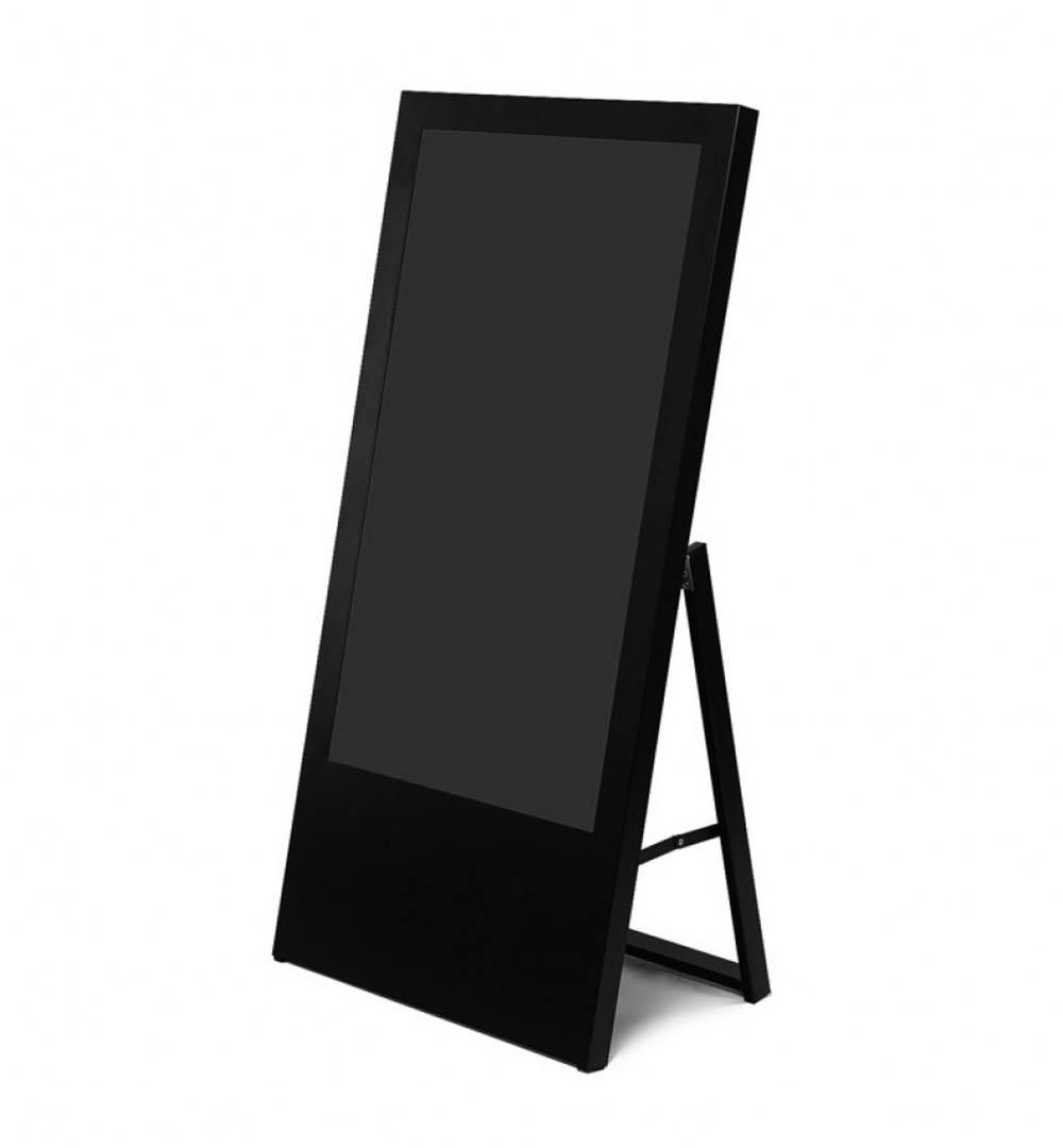 Digital Signage Kundenstopper Eco - schwarz
