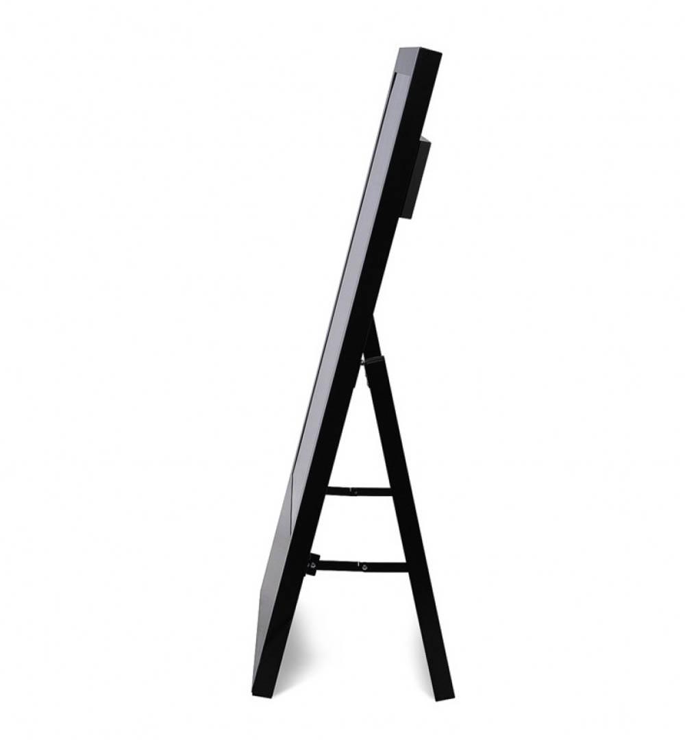 Digital Signage Kundenstopper Eco - schwarz seitlich