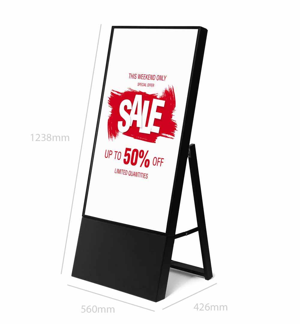 Digital Signage Kundenstopper Smart - Maße