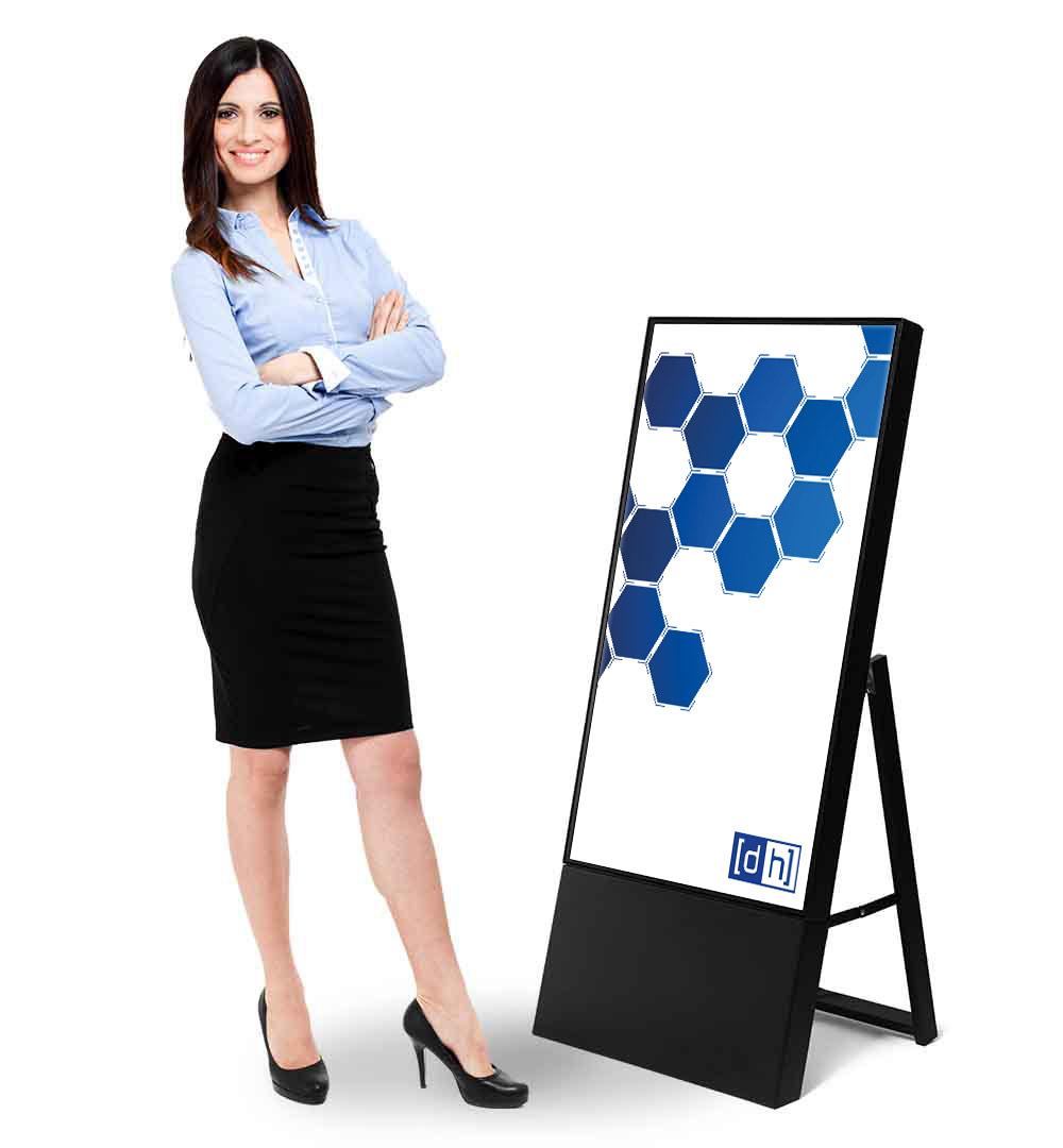 Digital Signage Kundenstopper Smart - Live