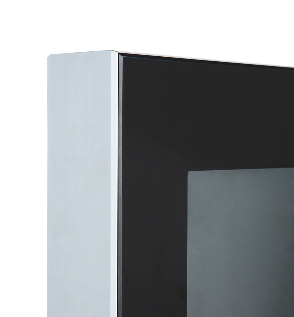 Digital Signage Werbesäule Slim - Rahmen Detail