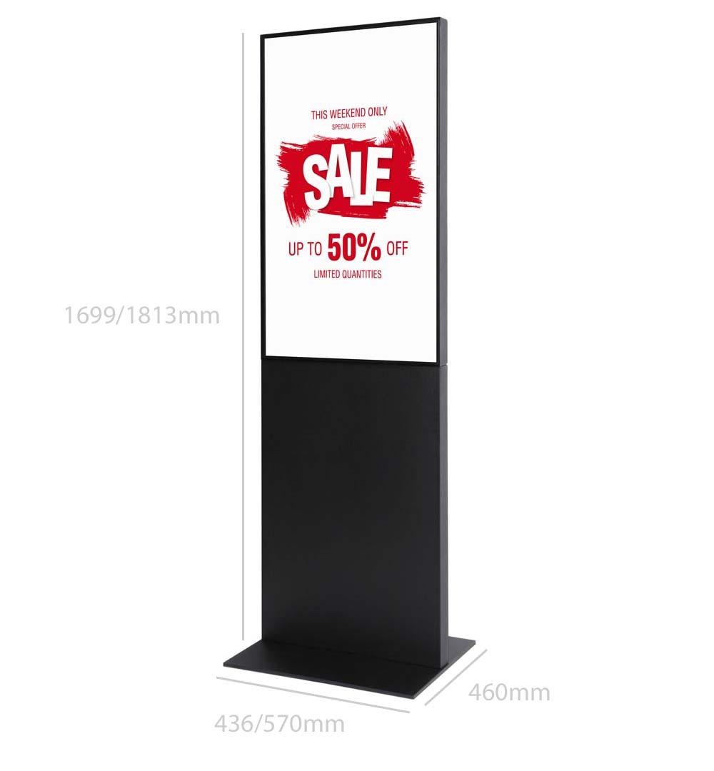 Digital Signage Werbesäule Smart - Maße