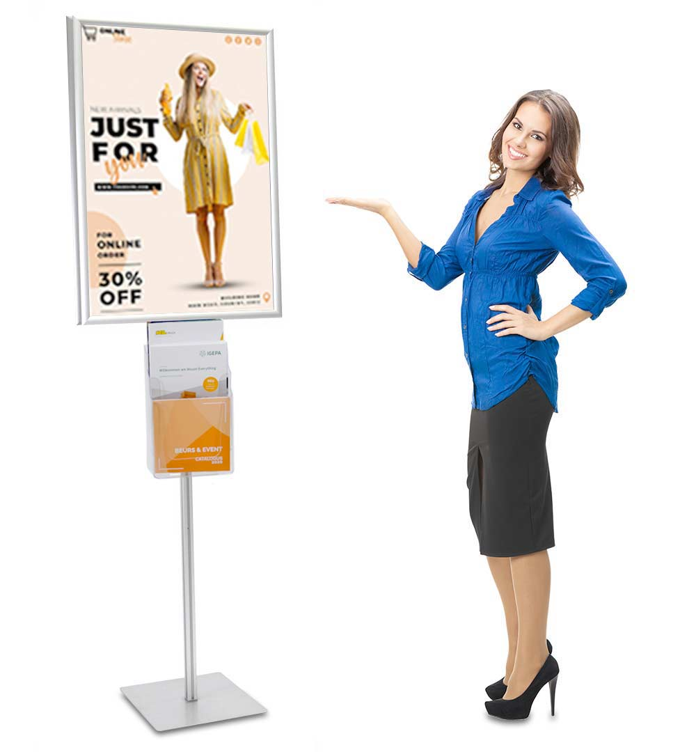 Plakatständer Shop Prospekthalter A4 dreifach - live