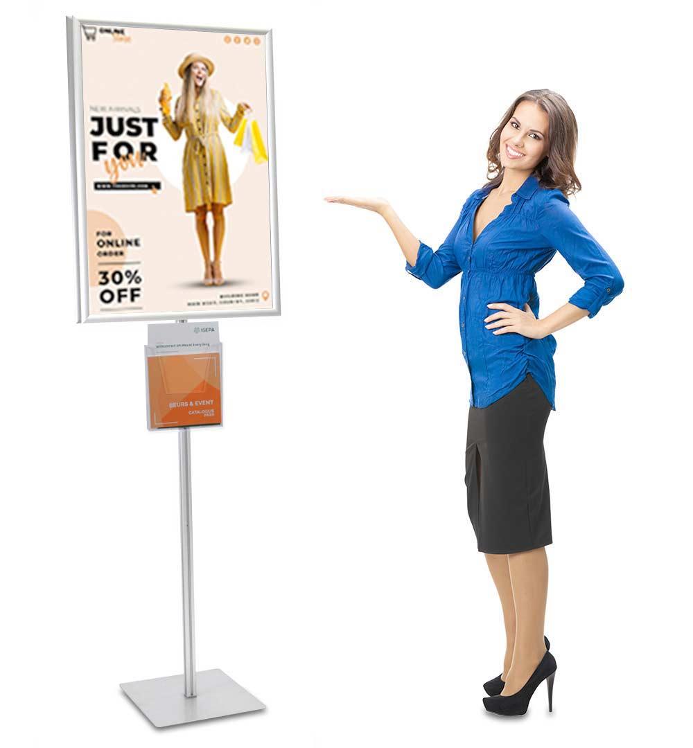 Plakatständer Shop Prospekthalter A4 einfach - live
