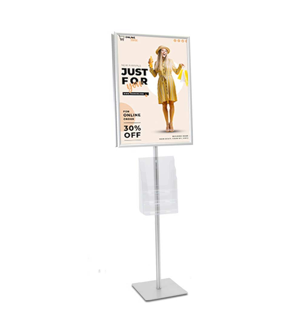 Plakatständer Shop Prospekthalter A4 dreifach