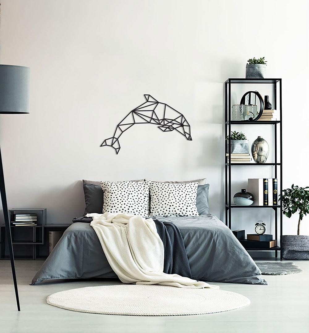 Wall Art Acryl Polygon Dolphin