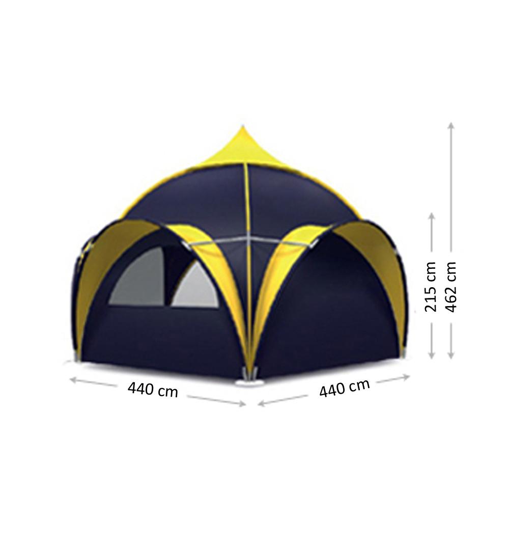 Domezelt 7.5m  - Maße