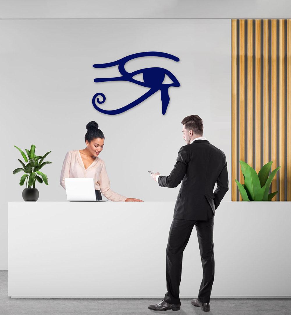 Wall Art Acryl Eye of Ra