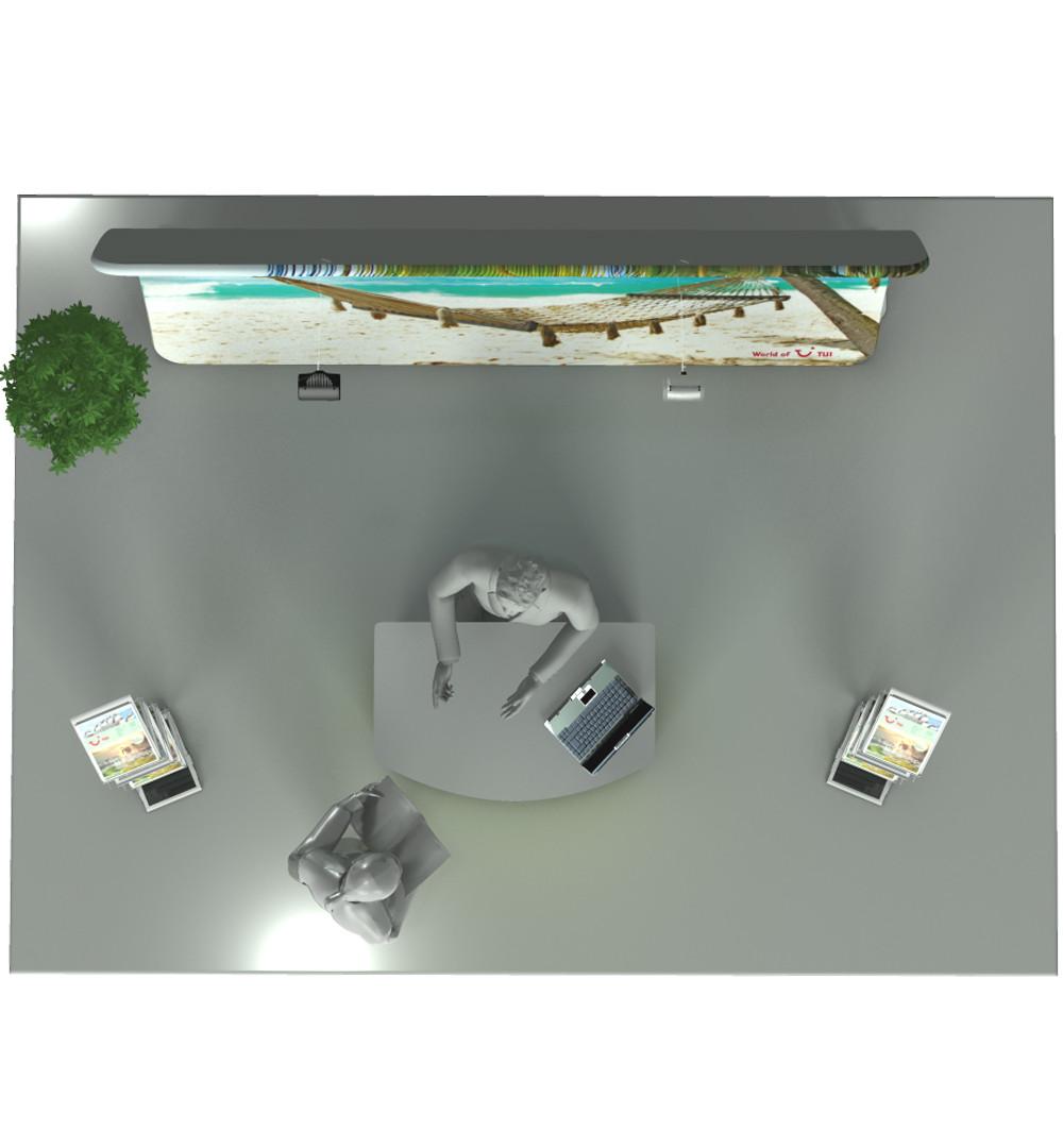 Messestand Faltwand Textil Evolution Set 002 - Draufsicht