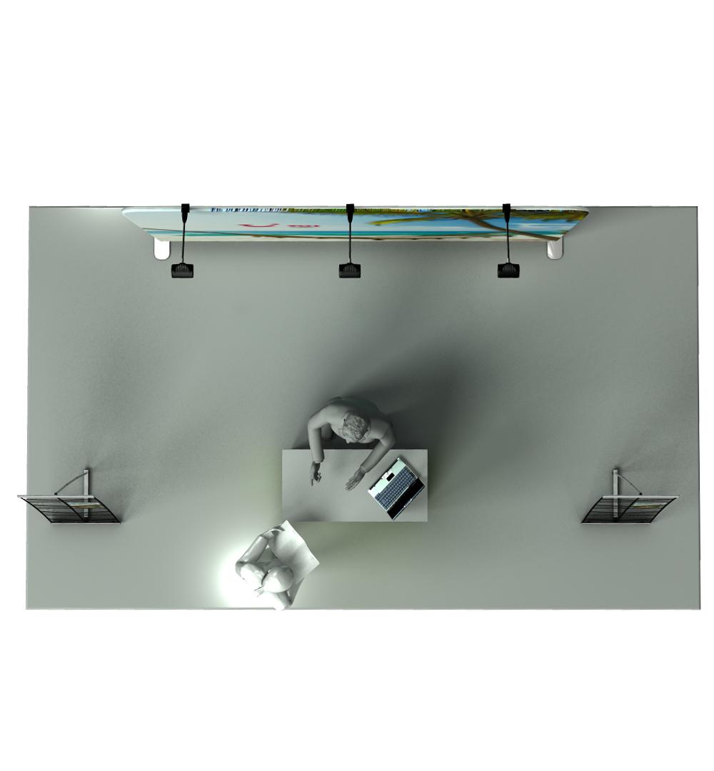 Messestand Faltwand Textil Evolution Set 004 - Draufsicht