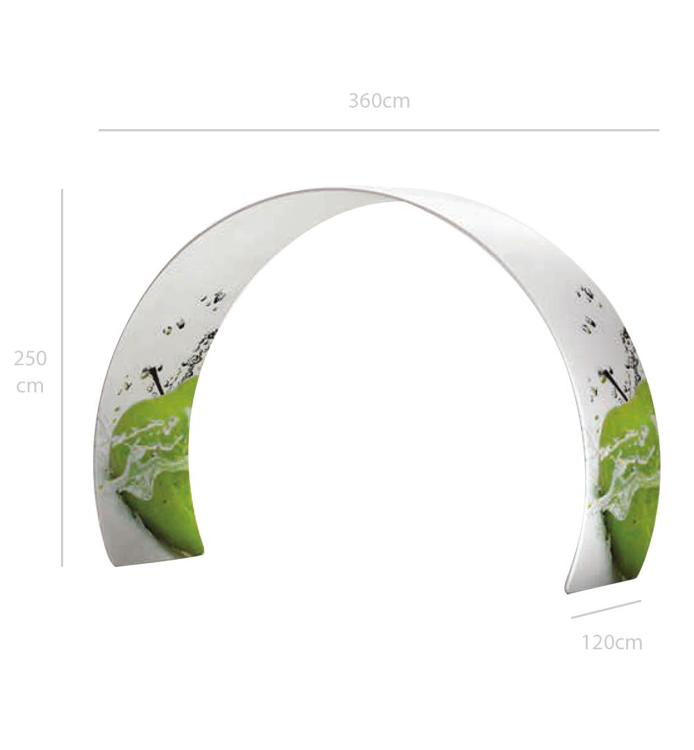 Faltwand Textil Evolution Gate D - Abmessungen