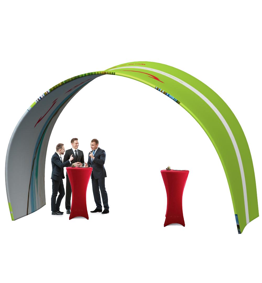 Messestand Faltwand Textil Evolution Set 009 - Faltwand Textil Evolution Tunnel