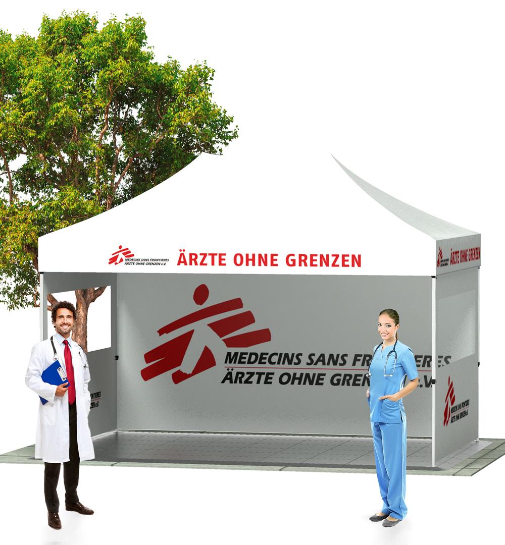 Faltzelt Maxxi Tent 3x4,5m - live mit Druck