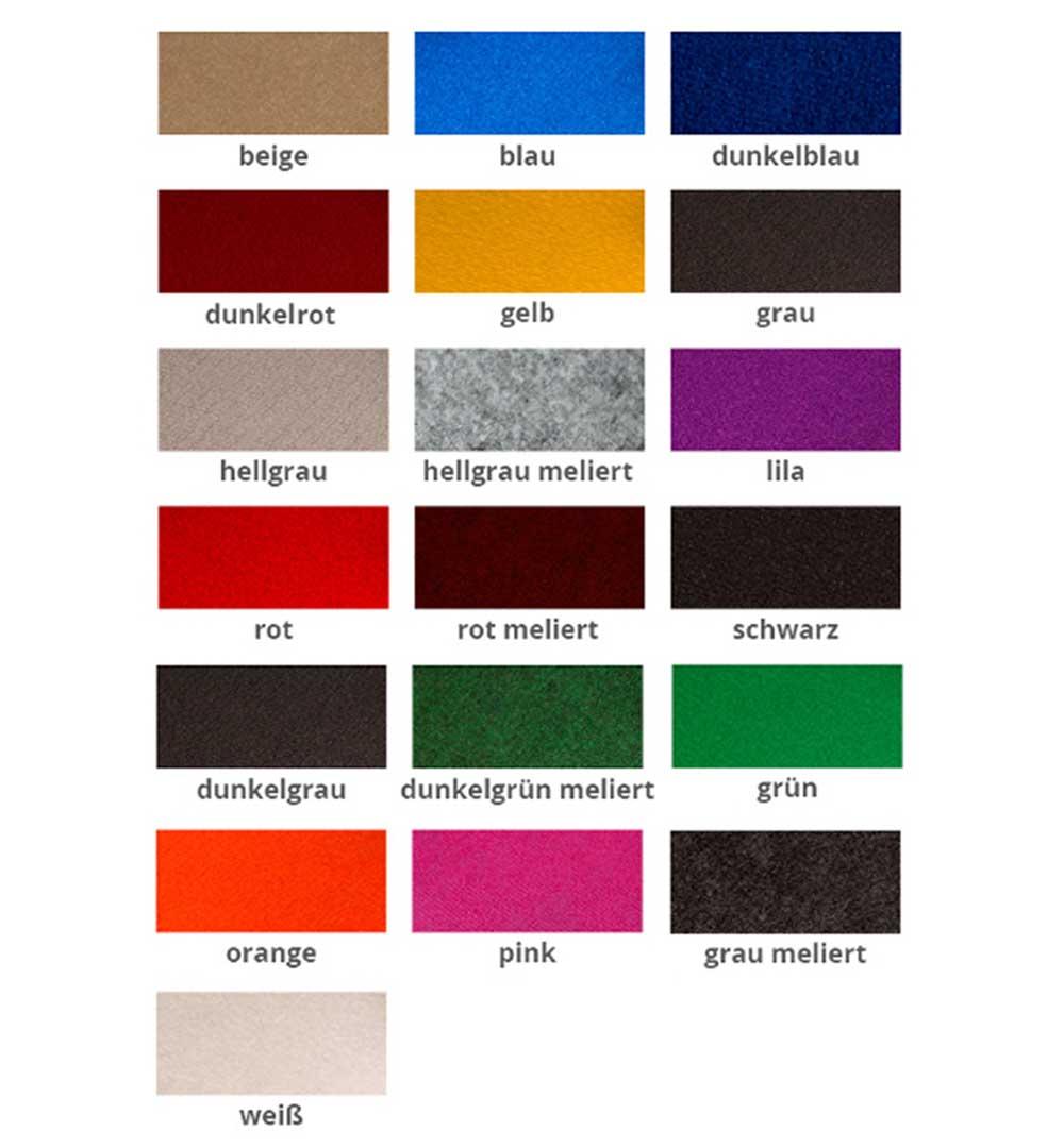 Messeteppich Rips - Farben
