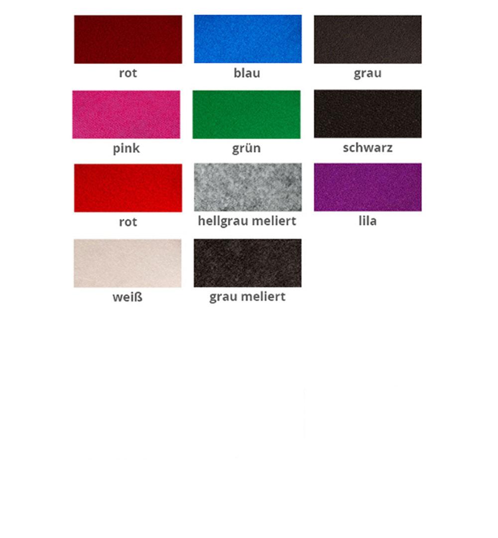 Messeteppich Flachfilz - Farben