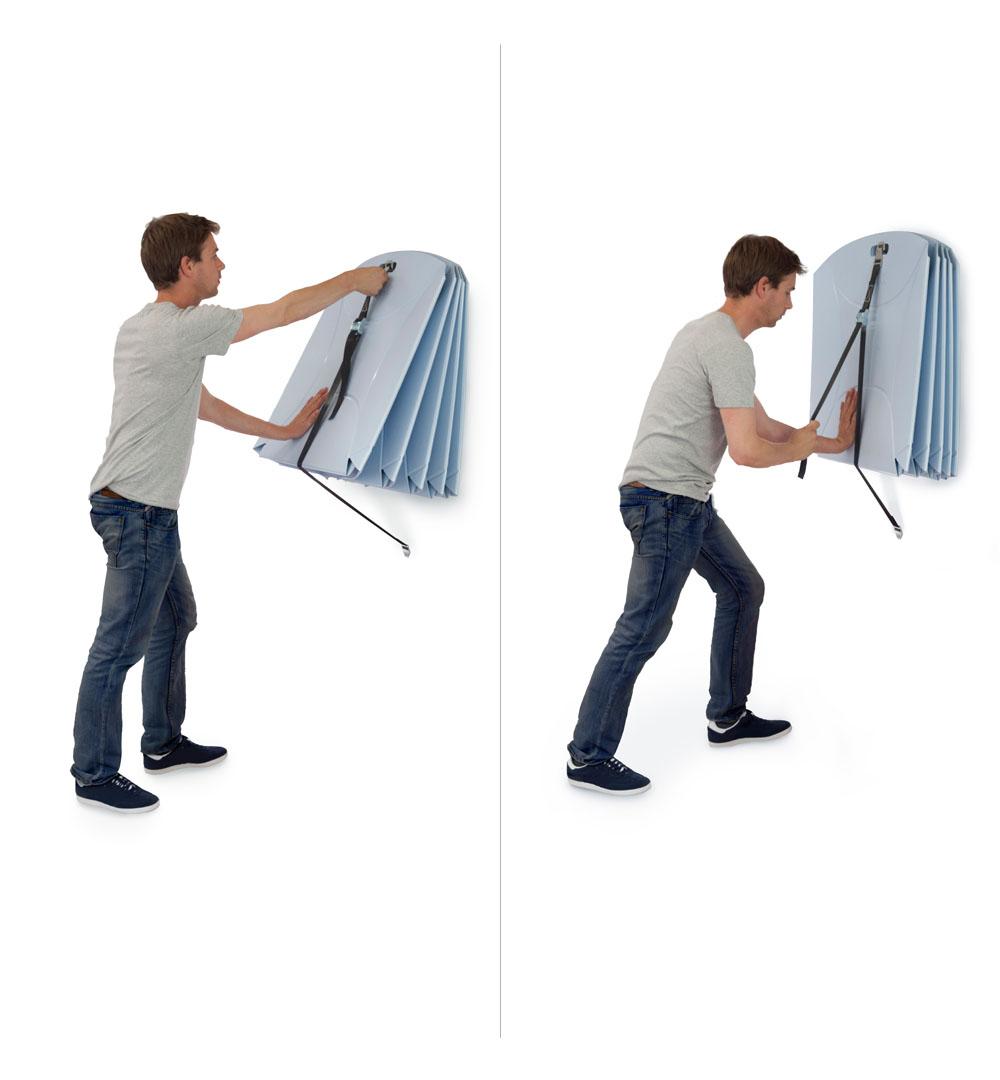 Flux Messestühle - Wandhalterung