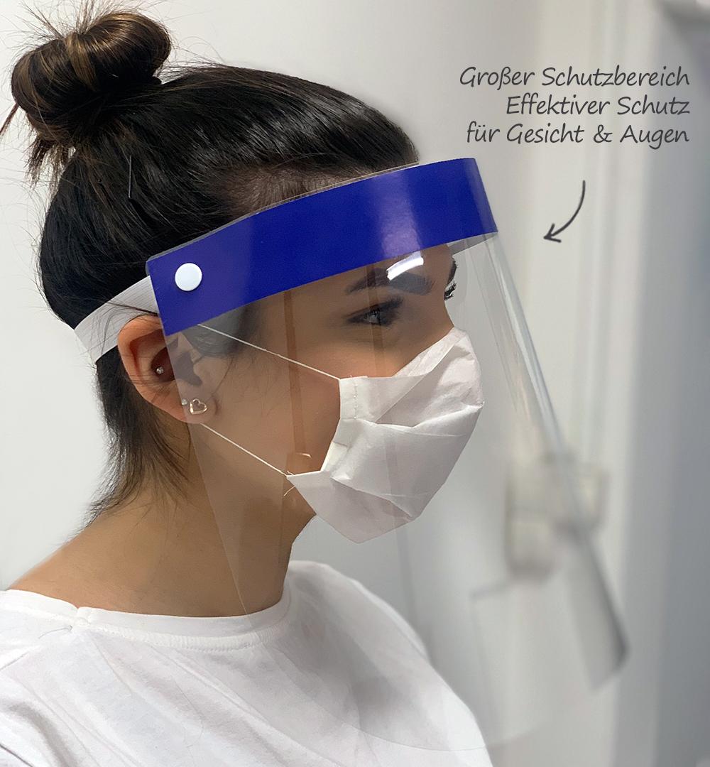Gesichtsschild - Schutzbereich