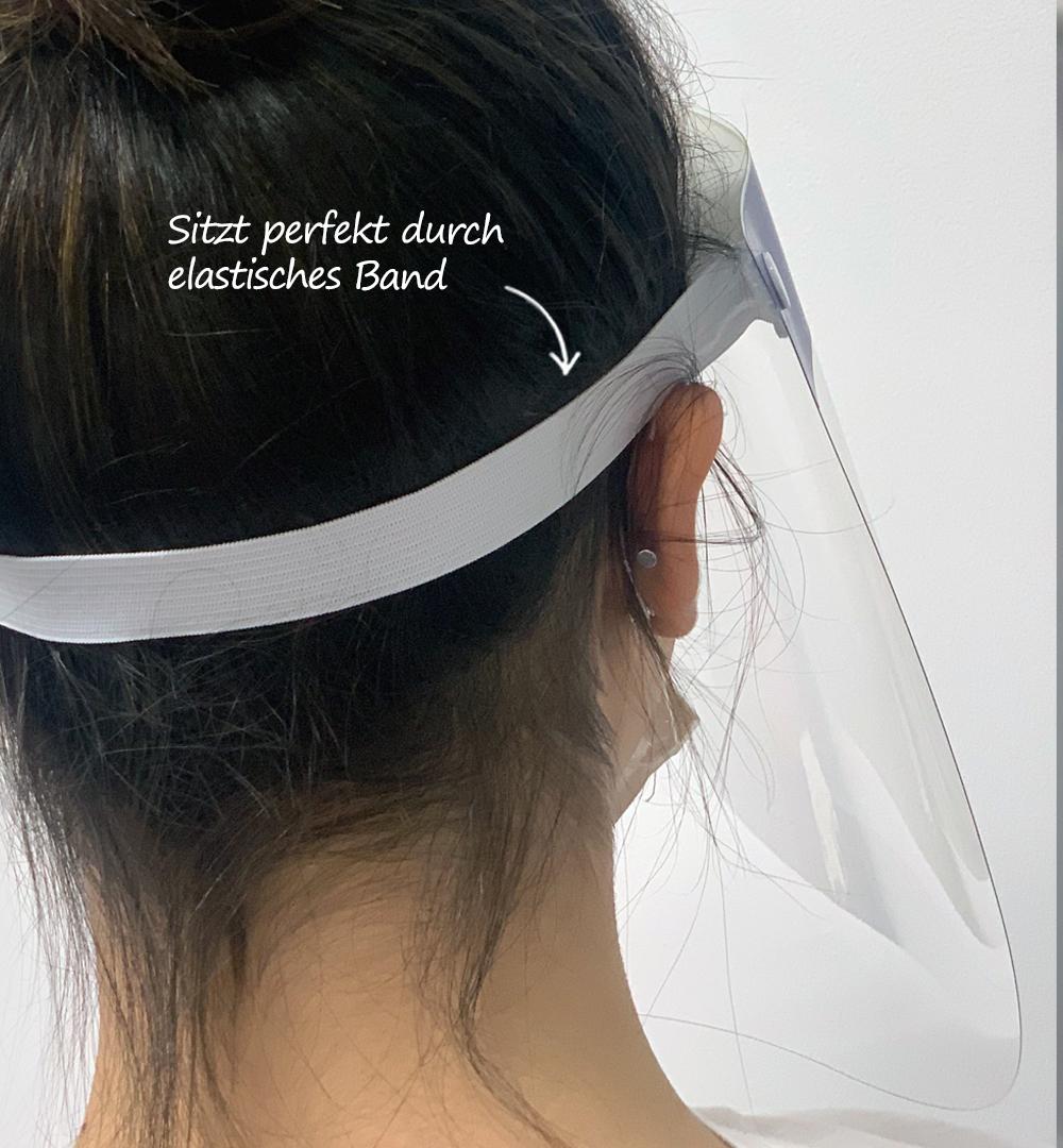 Gesichtsschild - elastisches Band