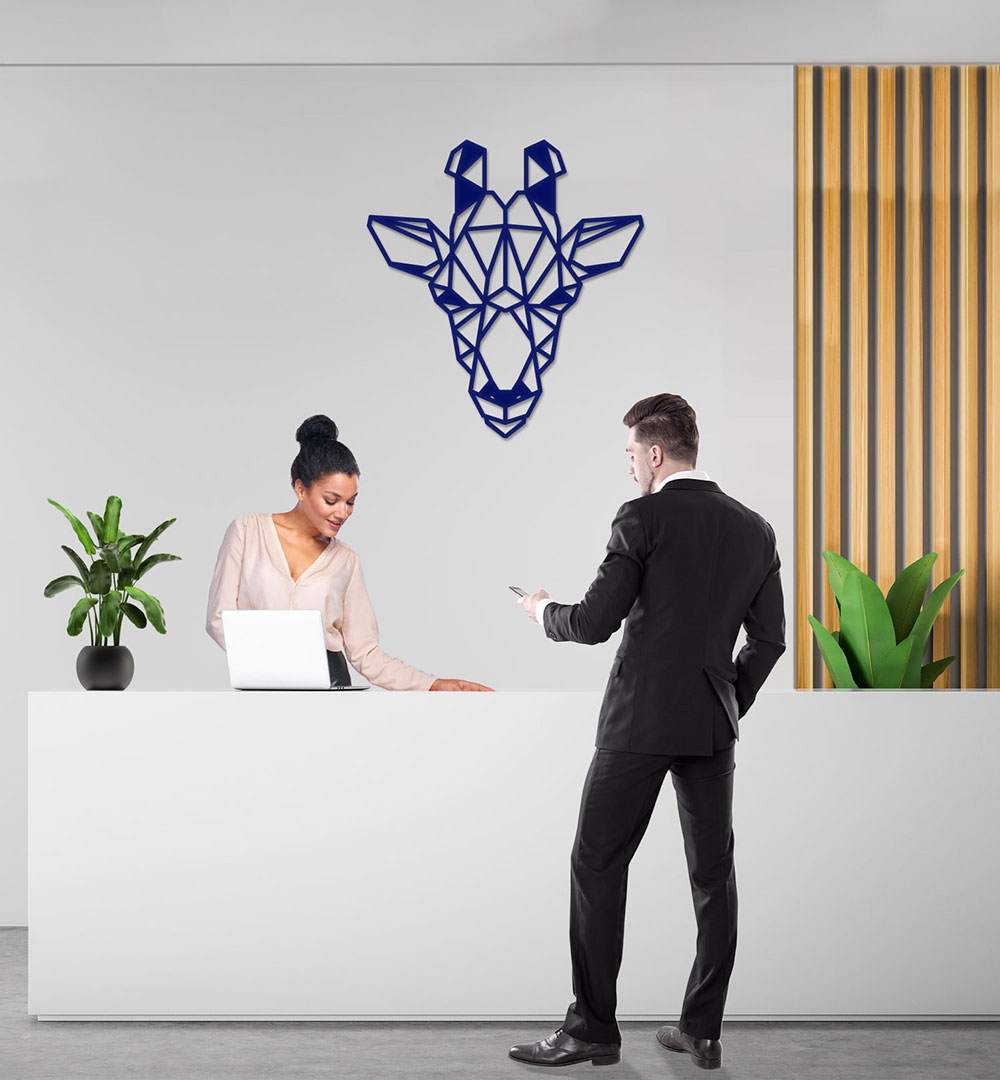Wall Art Acryl Polygon Giraffe