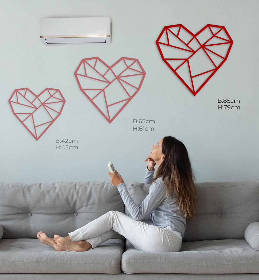 Wall Art Acryl Polygon Herz