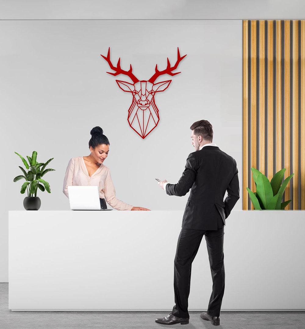 Wall Art Acryl Polygon Hirsch