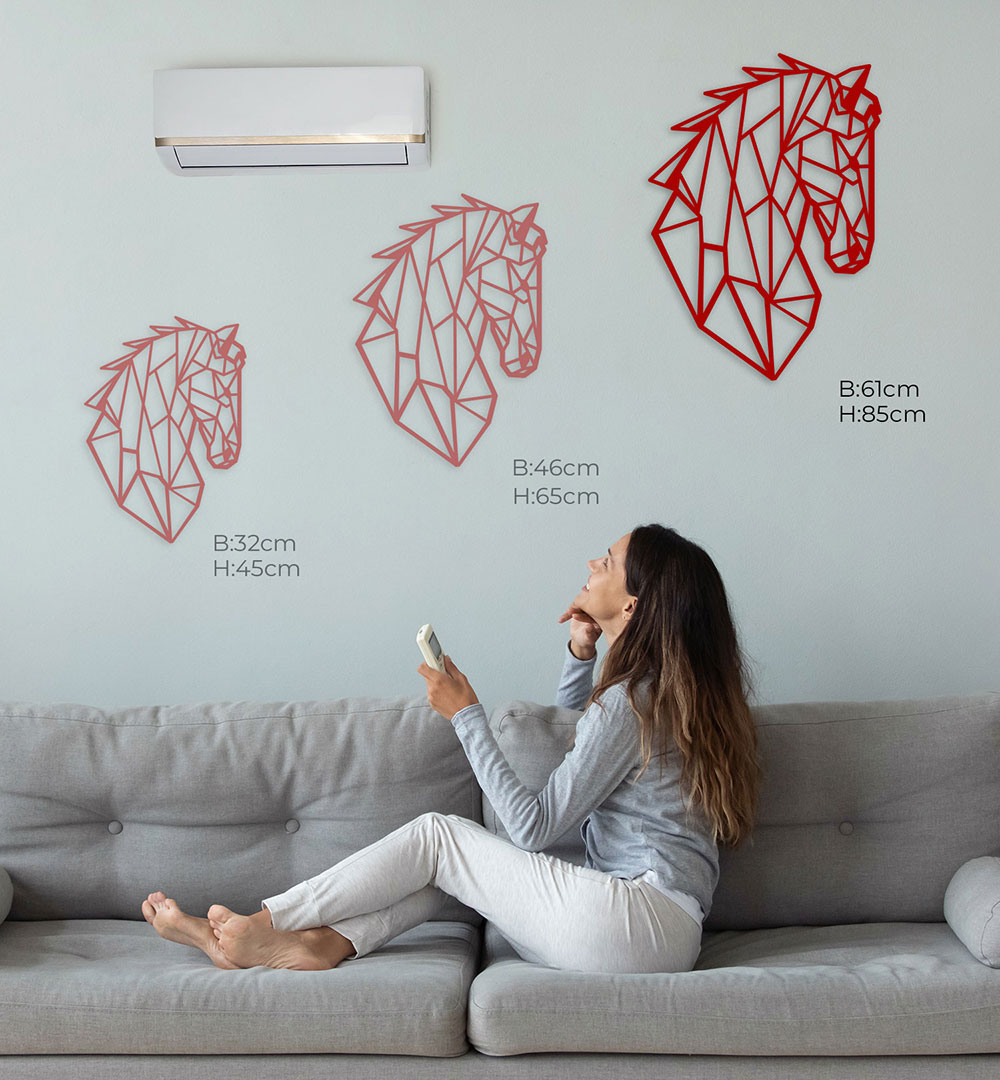 Wall Art Acryl Polygon Pferd