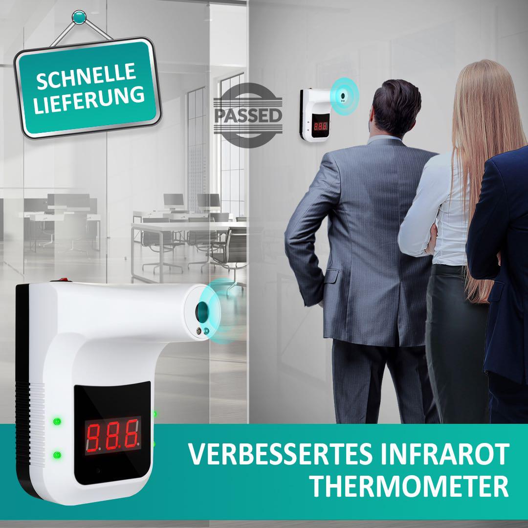 Desinfektionsständer Q Thermo mit Sensor Thermometer