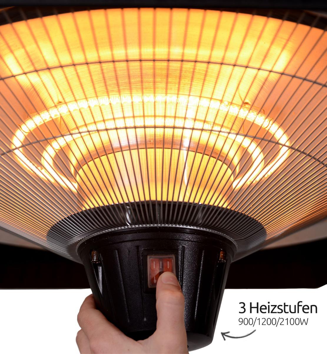 Infrarot Heizstrahler - Heizstufen