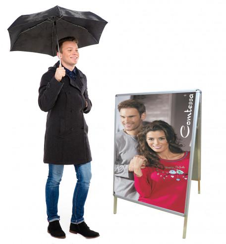 Kundenstopper Wetterfest - live