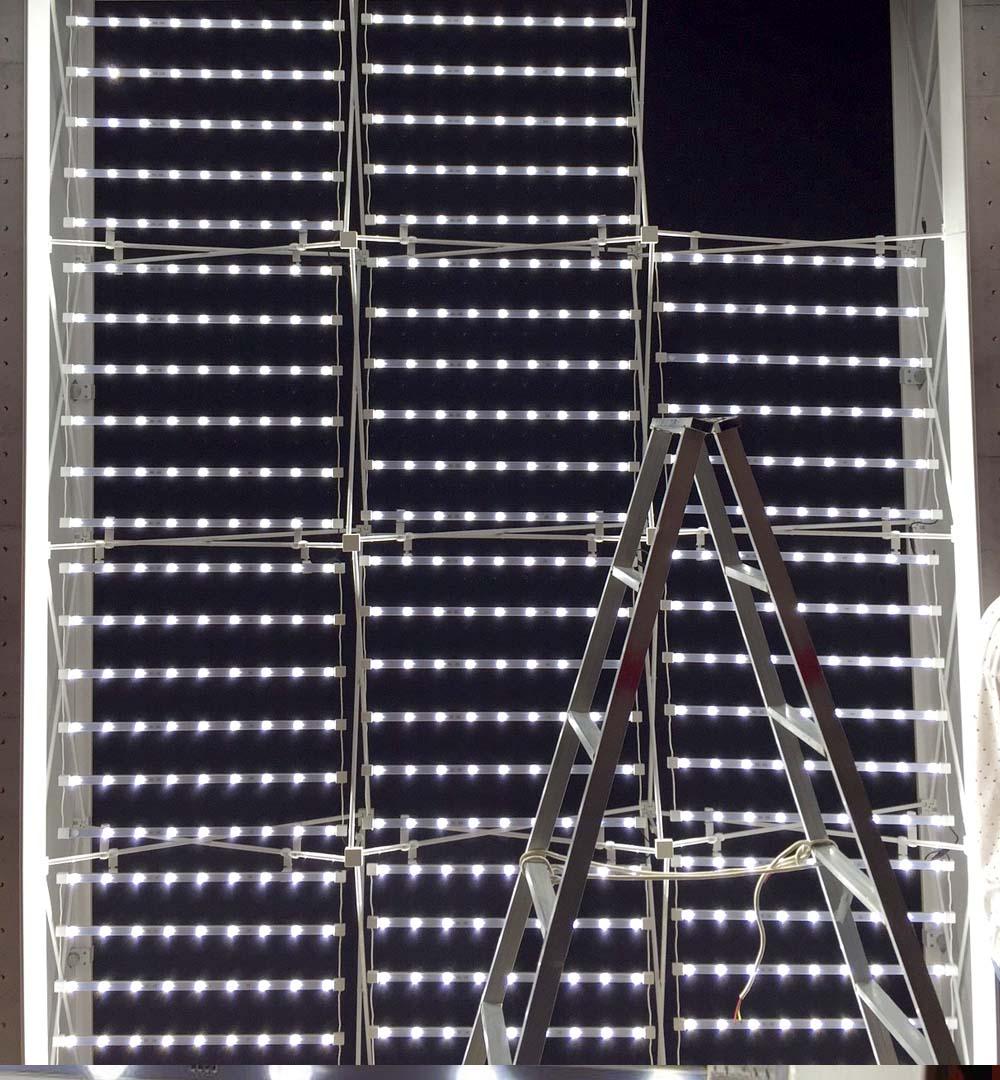 Faltdisplay Pop-Up MODULAR gerade - LED Beleuchtung
