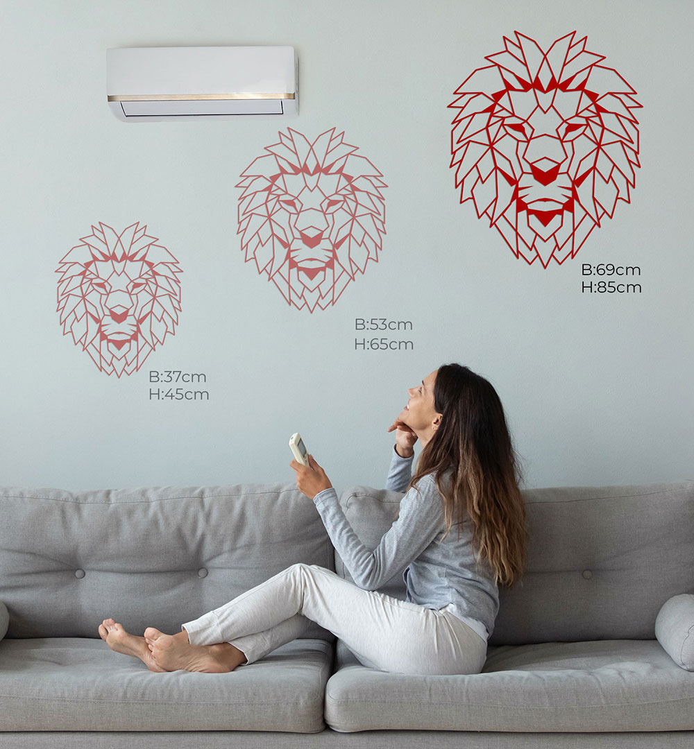 Wall Art Acryl Polygon Lion